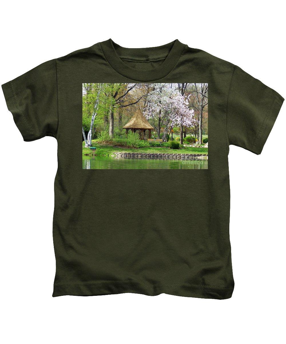 Gazebo Kids T-Shirt featuring the photograph Gazebo by Optical Playground By MP Ray