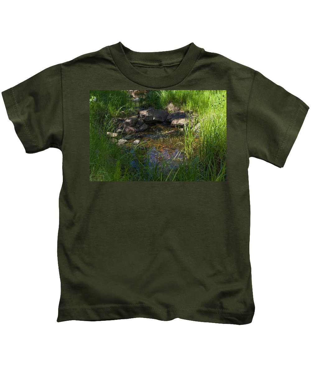 Colorado Photographs Kids T-Shirt featuring the photograph Gentle Flow by Gary Benson