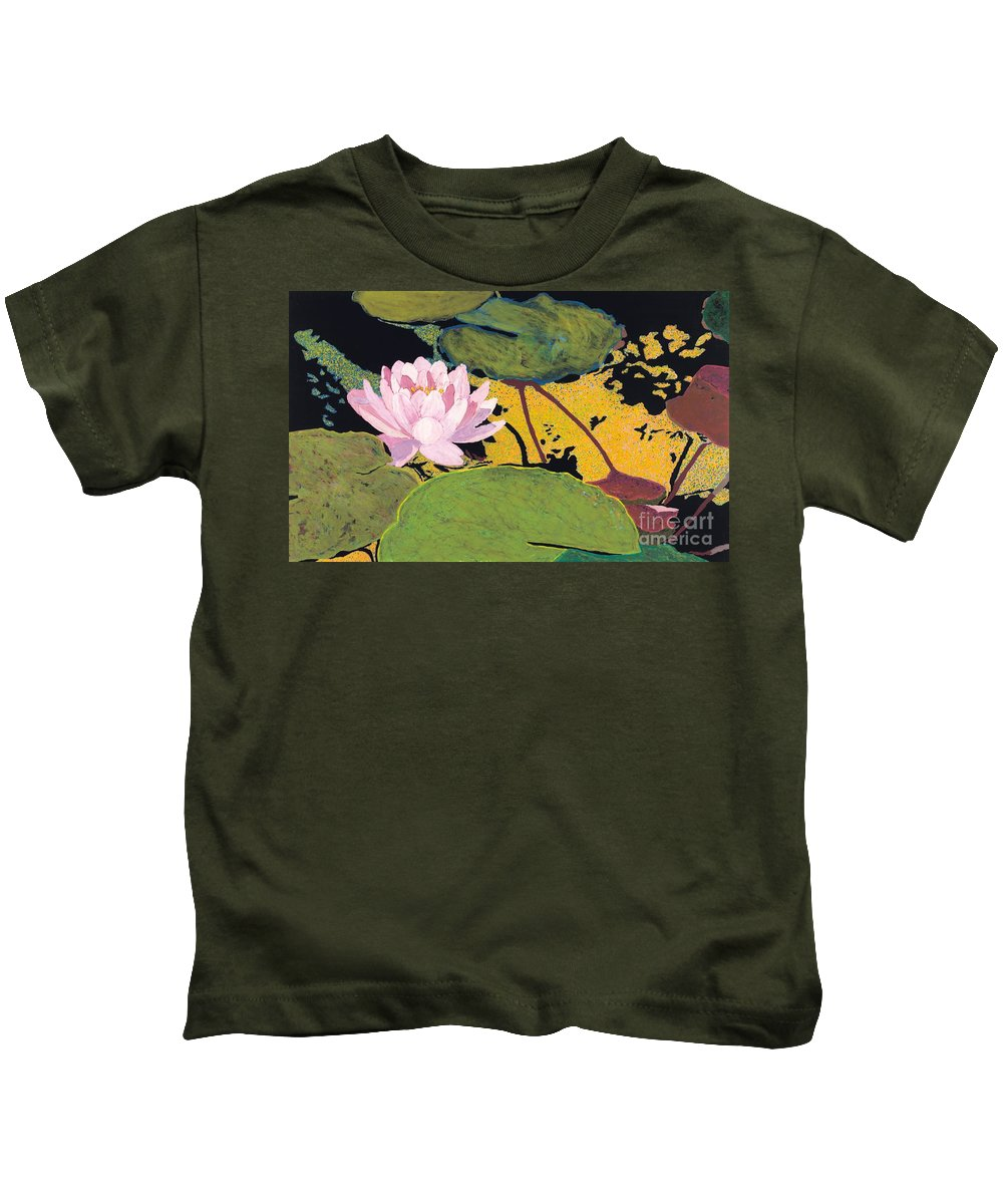 Landscape Kids T-Shirt featuring the painting Georgia Summer by Allan P Friedlander
