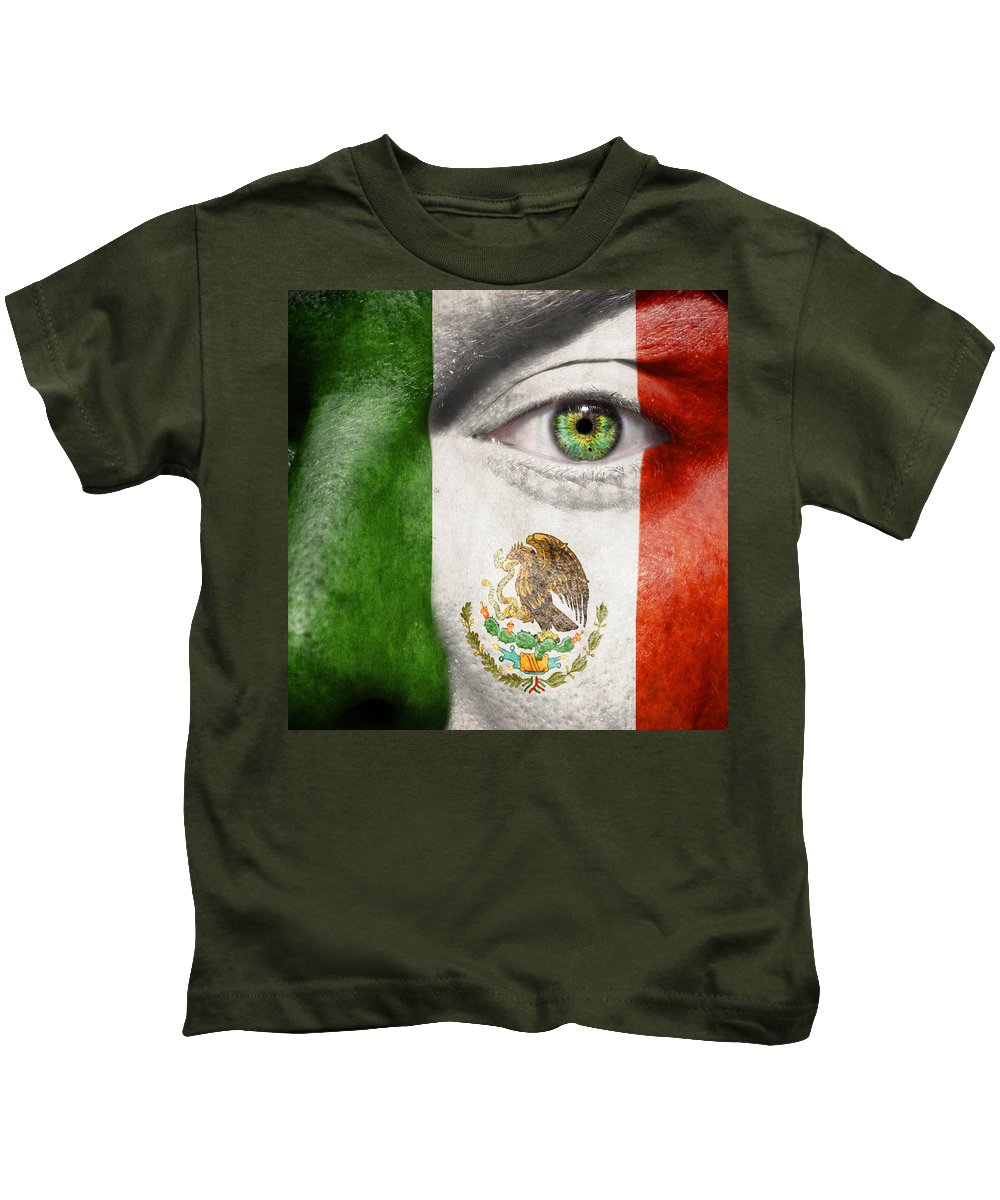 Art Kids T-Shirt featuring the photograph Go Mexico by Semmick Photo