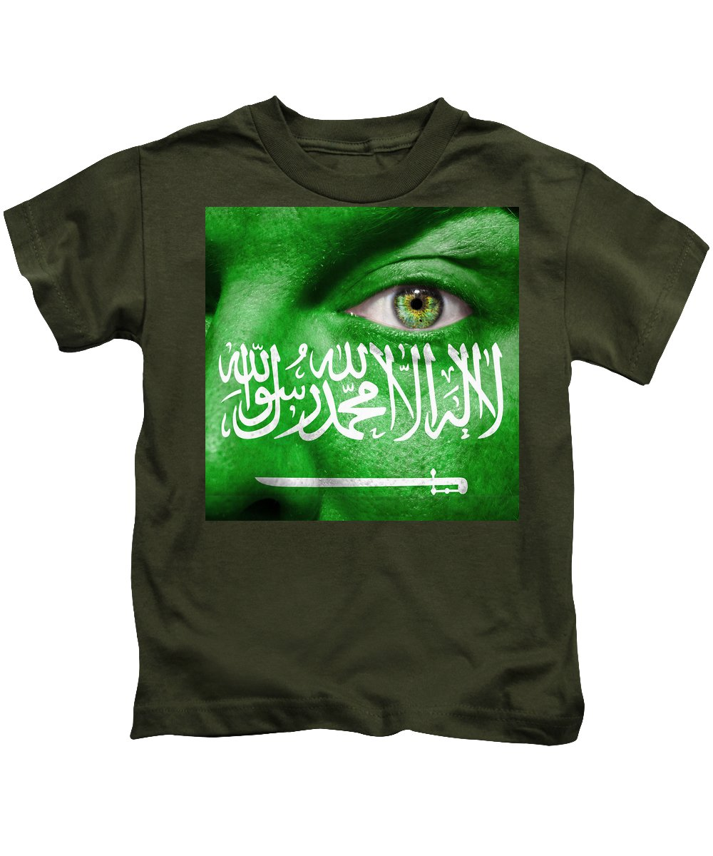 Art Kids T-Shirt featuring the photograph Go Saudi Arabia by Semmick Photo