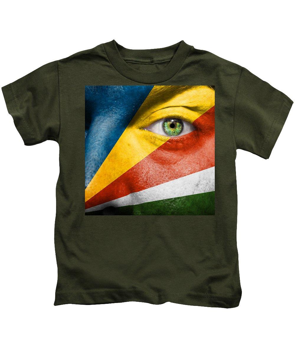 Art Kids T-Shirt featuring the photograph Go Seychelles by Semmick Photo