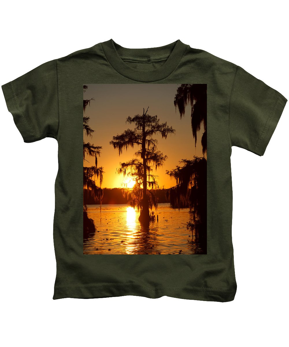 Louisiana Kids T-Shirt featuring the photograph Golden Evening by Susie Hoffpauir