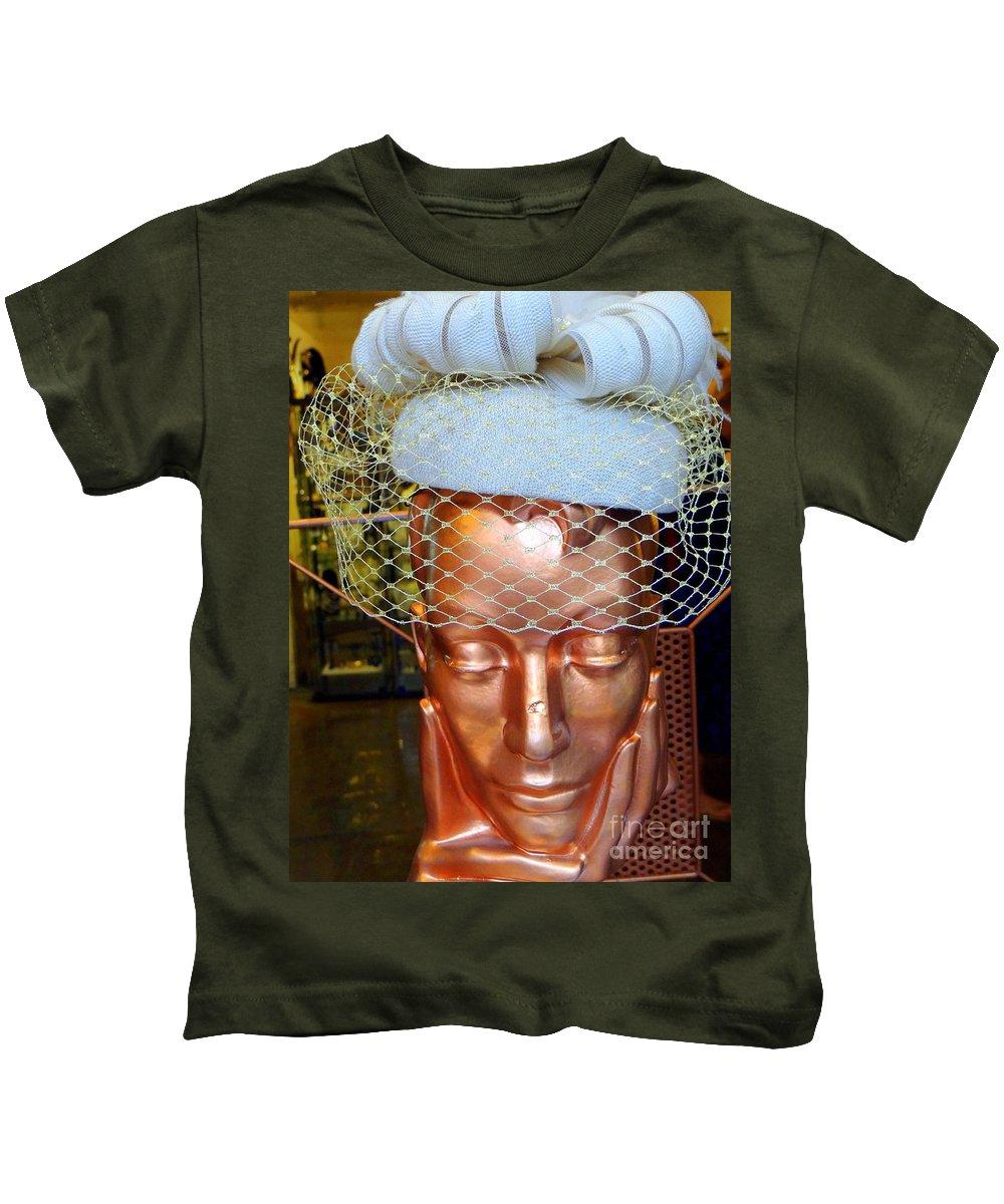 Mannequin Kids T-Shirt featuring the photograph Golden Gal by Ed Weidman