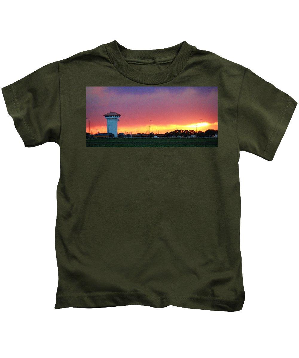 Golden Spike Kids T-Shirt featuring the photograph Golden Spike Sunset by Sylvia Thornton