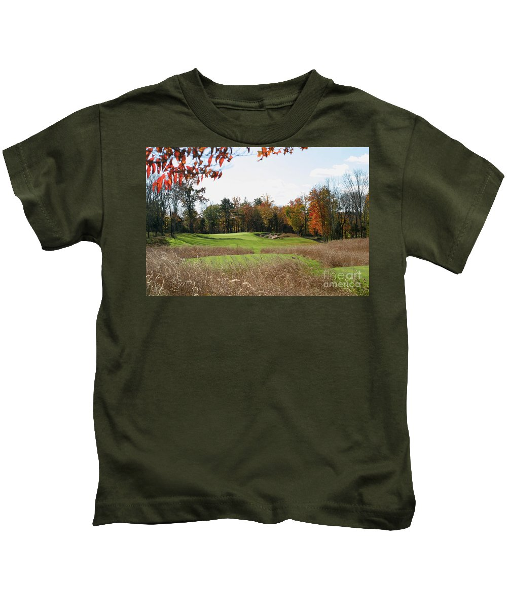 Golf Kids T-Shirt featuring the photograph Golf Anyone? by Living Color Photography Lorraine Lynch