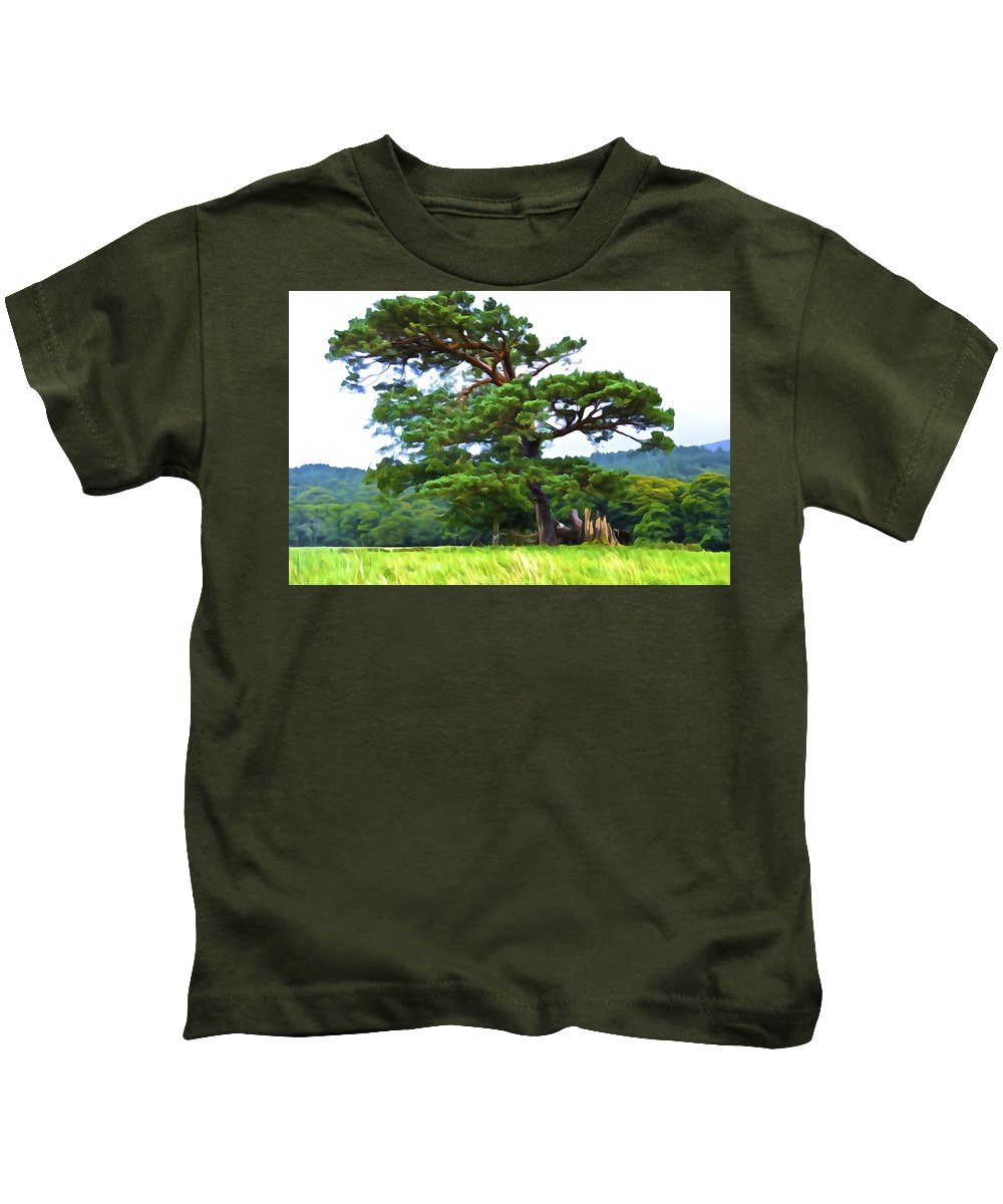 Pine Tree Kids T-Shirt featuring the photograph Great Pine by Charlie Brock
