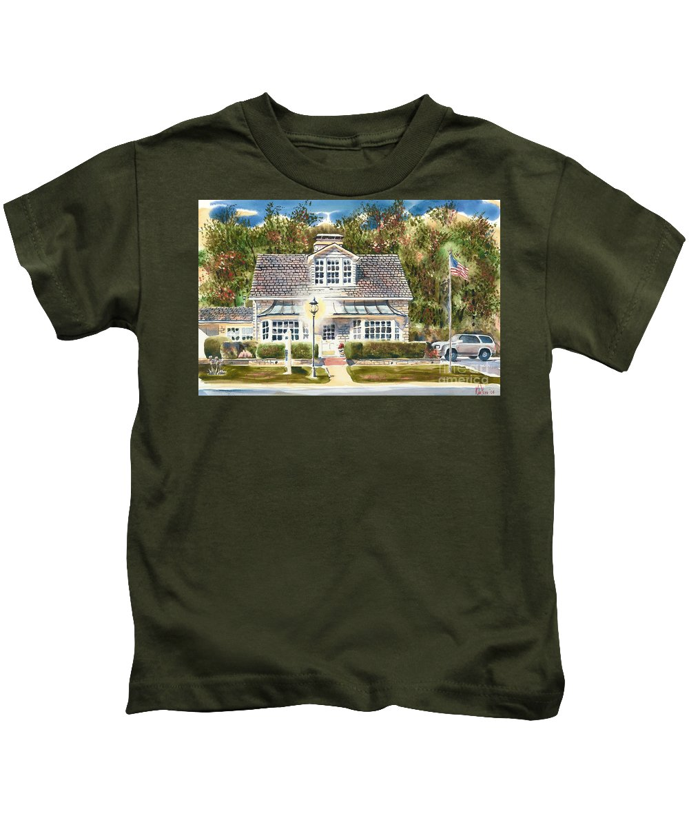 Greystone Inn Ii Kids T-Shirt featuring the painting Greystone Inn II by Kip DeVore