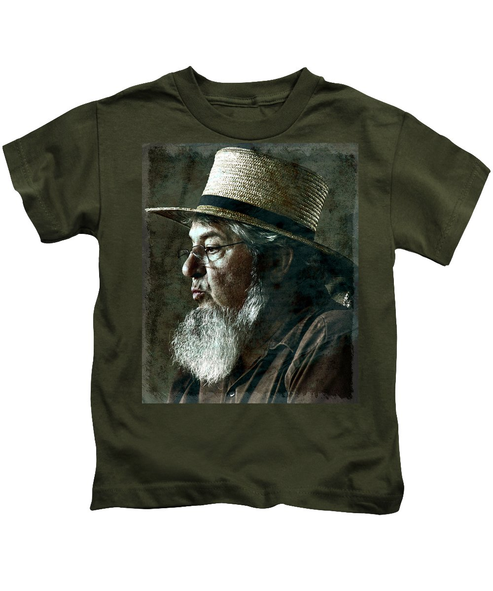 Farmer Kids T-Shirt featuring the photograph Gritty Farmer by Alice Gipson