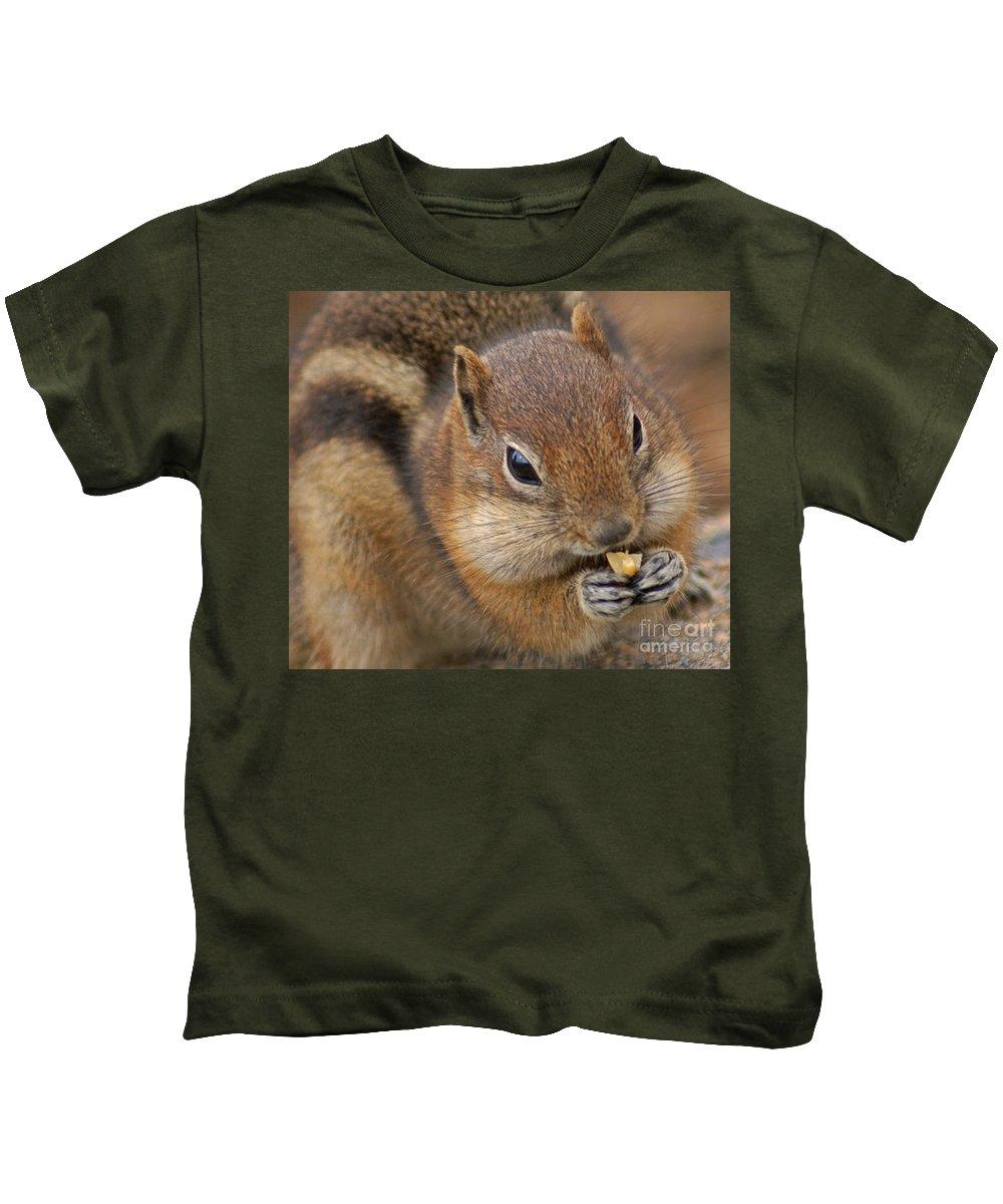 Ground Squirrel Kids T-Shirt featuring the photograph Ground Squirrel by Heather Coen