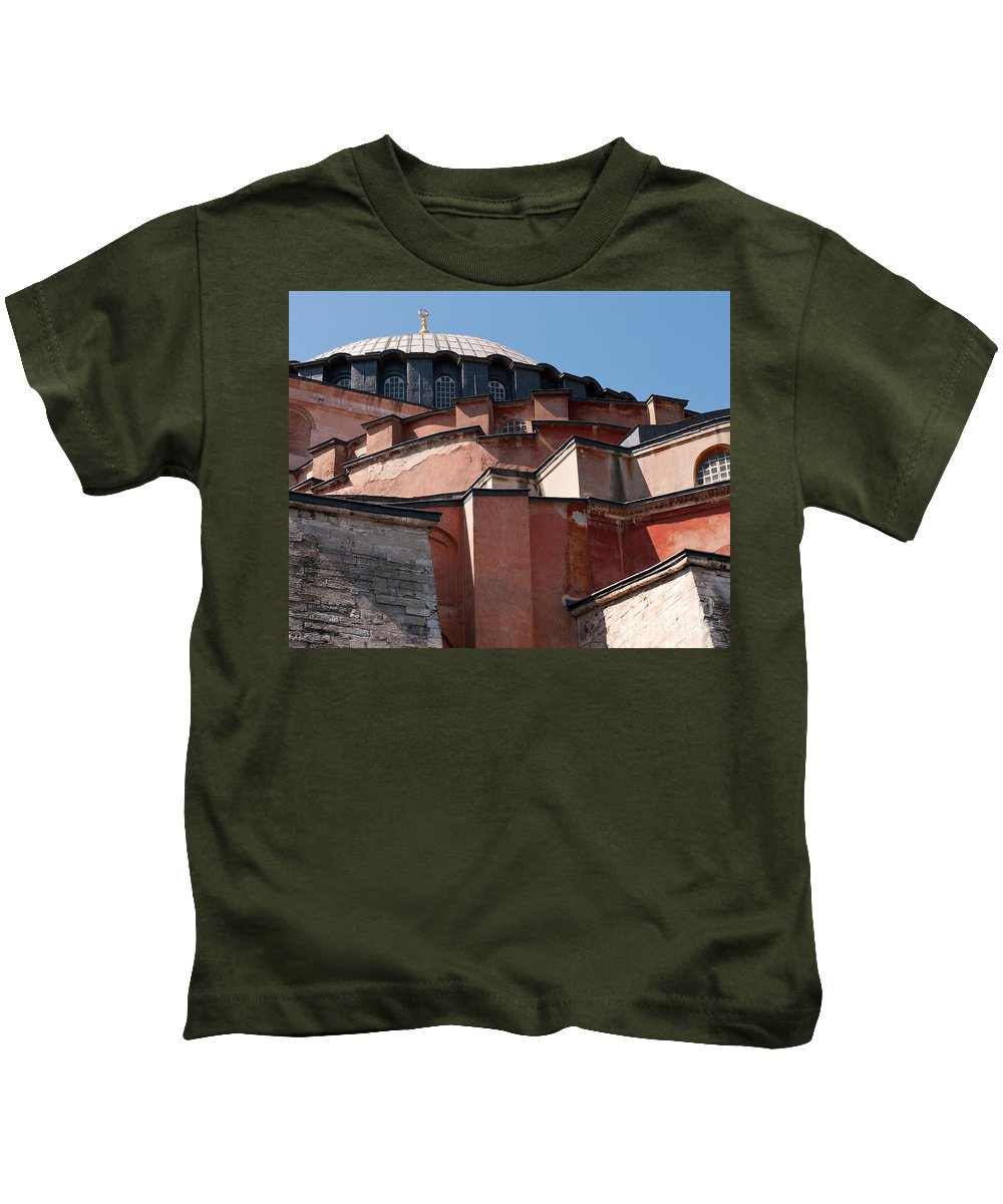 Istanbul Kids T-Shirt featuring the photograph Hagia Sophia Angles 01 by Rick Piper Photography
