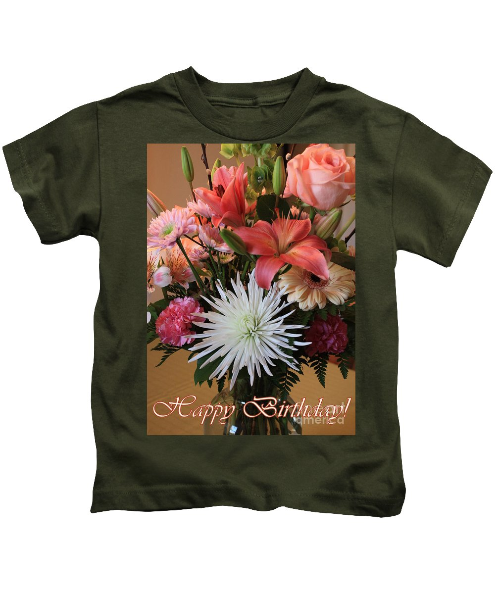 Birthday Card Kids T-Shirt featuring the photograph Happy Birthday Card by Carol Groenen