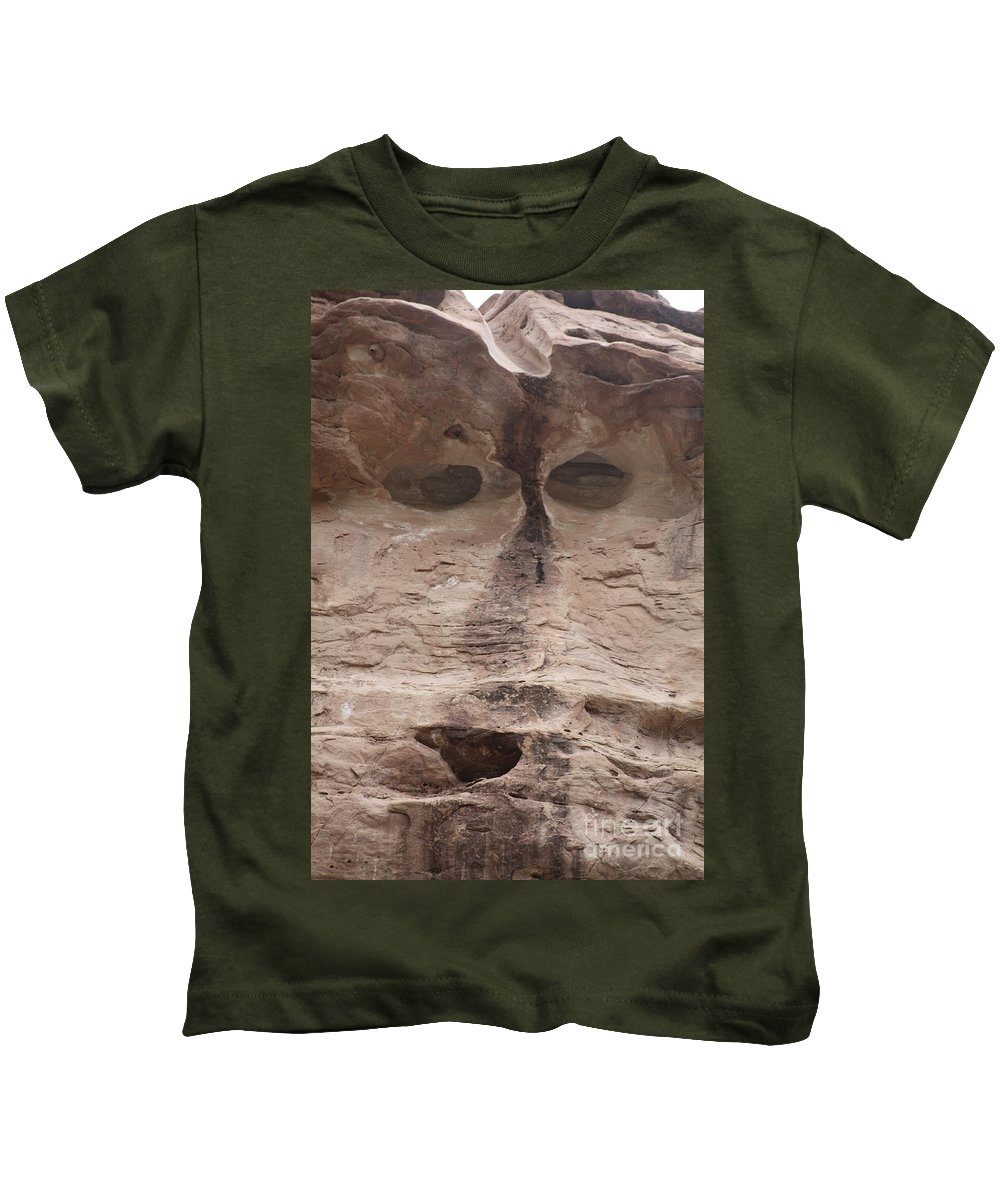 Rock Cliff Kids T-Shirt featuring the photograph Happy Cliff by Brandi Maher