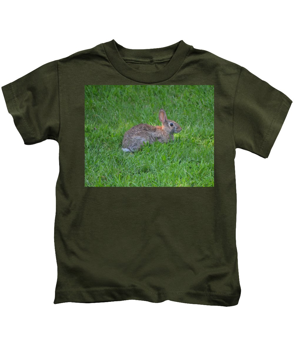 Wild Kids T-Shirt featuring the photograph Happy Rabbit by Richard Bryce and Family