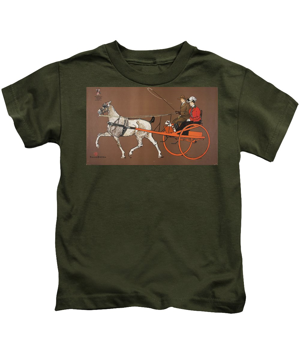 Edward Penfield Kids T-Shirt featuring the drawing Heller And Bachrach by Edward Penfield