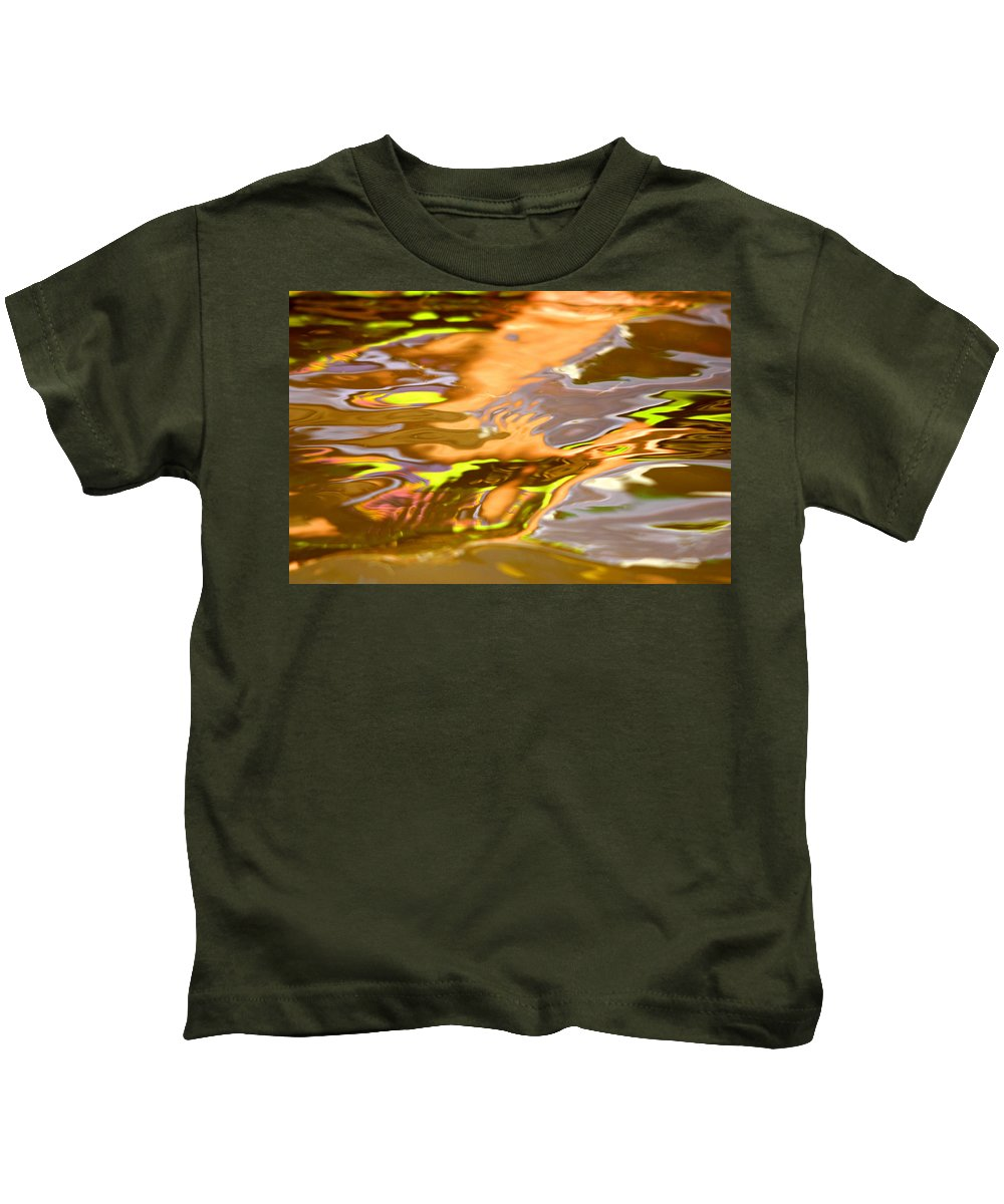 Lake Kids T-Shirt featuring the photograph Helping Hands by Donna Blackhall