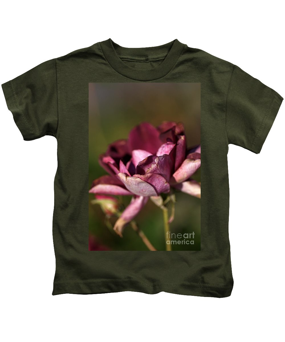 Age Kids T-Shirt featuring the photograph Her Beauty Of Age by Joy Watson