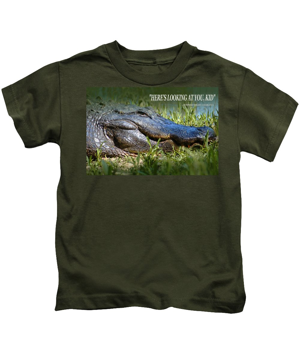 Here's Looking At You Kid Kids T-Shirt featuring the photograph Here's Looking At You Kid by Bob Pardue