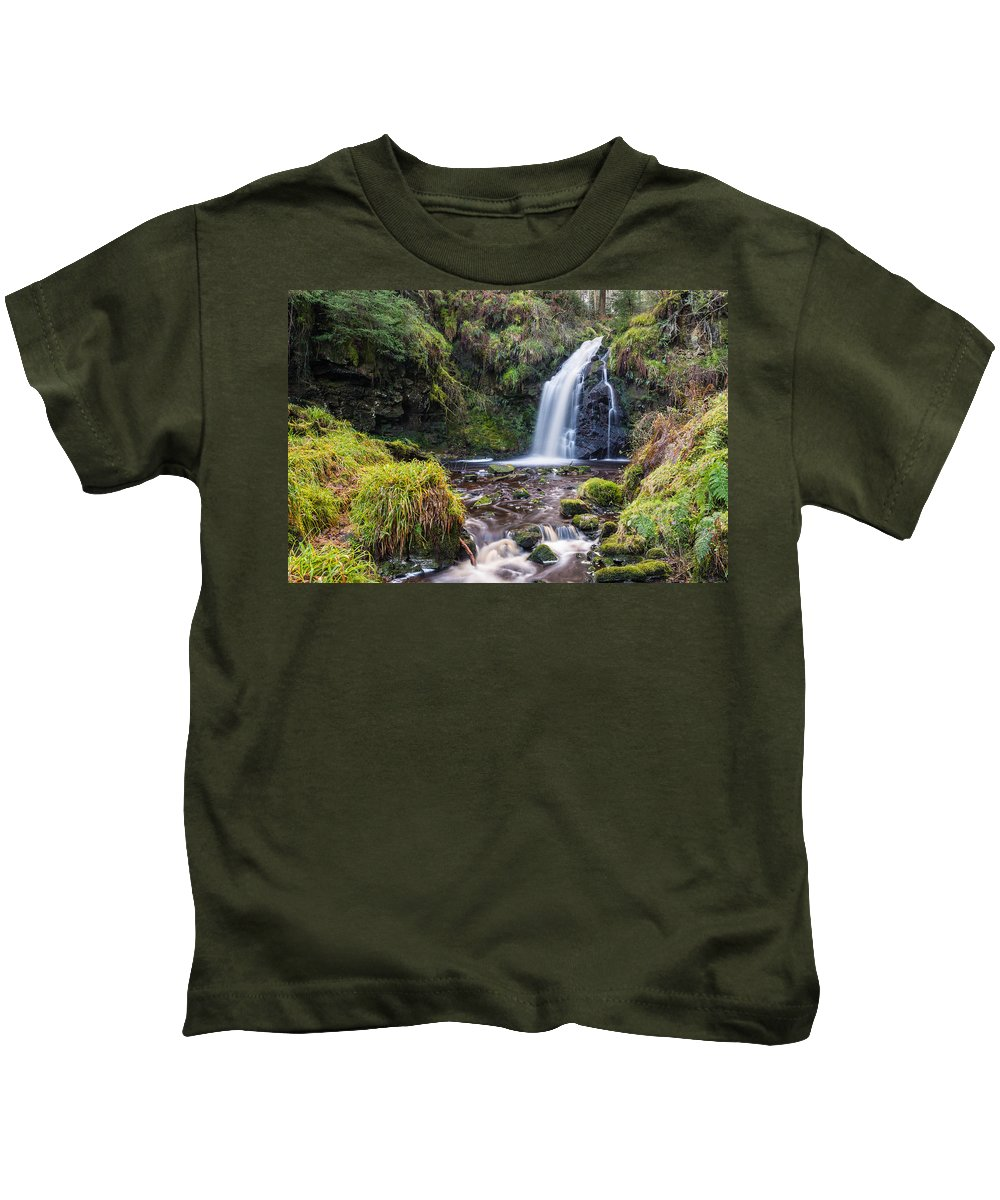 Northumberland Kids T-Shirt featuring the photograph Hindhope Linn by David Head
