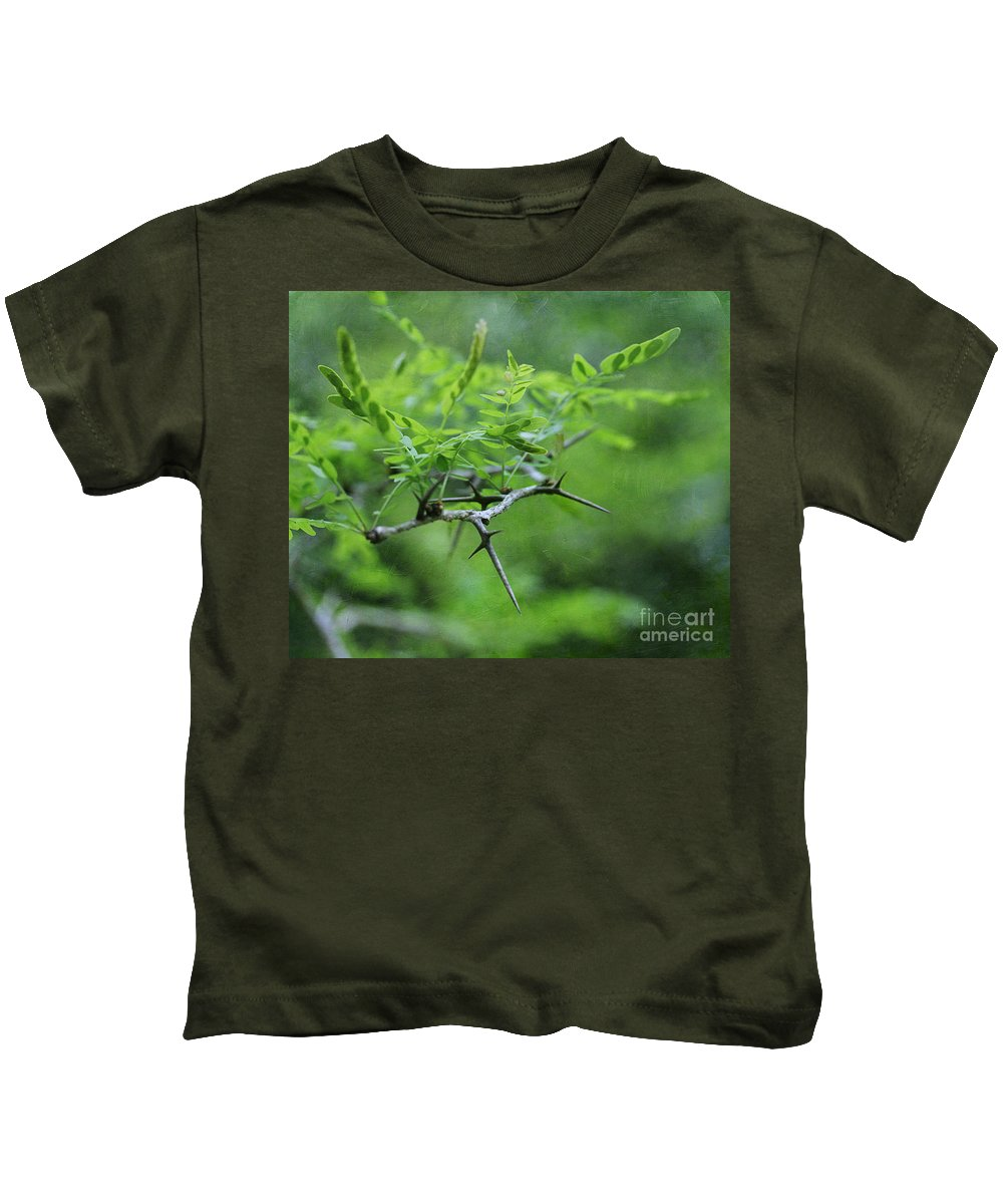 Honey Kids T-Shirt featuring the photograph Honey Locust 2 by Judi Bagwell