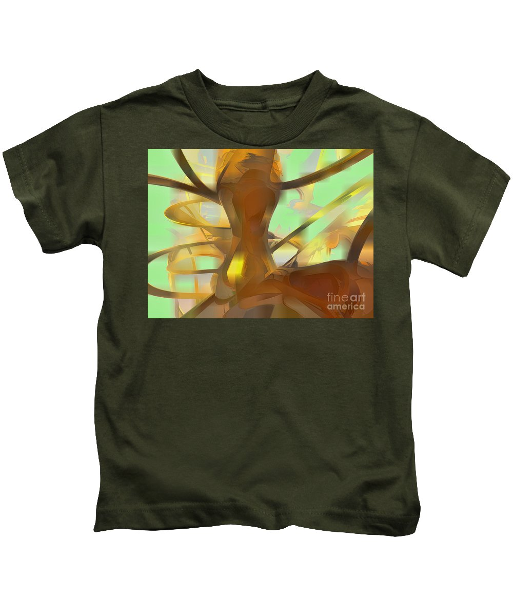 Abstract Kids T-Shirt featuring the digital art Honey Pastel Abstract by Alexander Butler