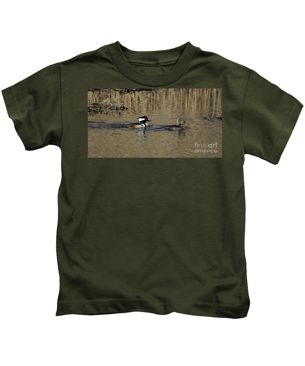 Hooded Merganser Kids T-Shirt featuring the photograph Hooded Merganser Couple by Patti Smith