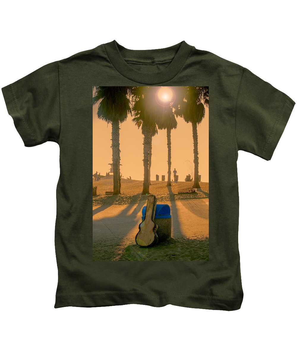 Beach Kids T-Shirt featuring the photograph Hotel California by Peter Tellone