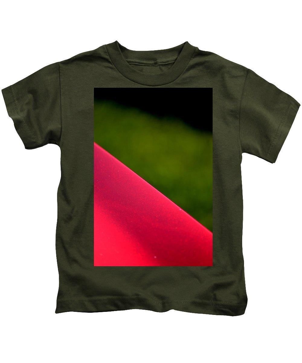Red Hotrod Kids T-Shirt featuring the photograph Hr158 by Dean Ferreira
