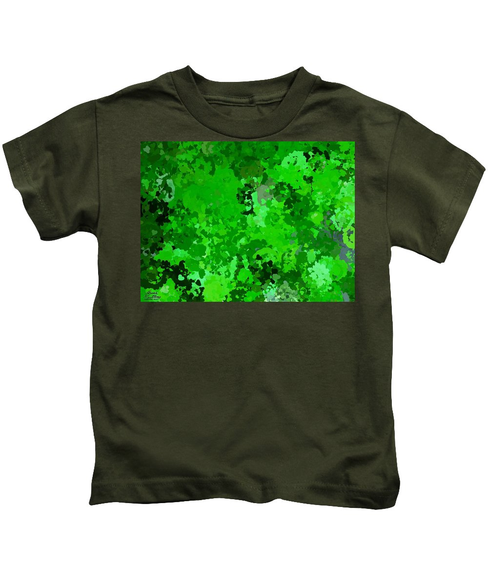 Hearts Kids T-Shirt featuring the painting I Love Green by Bruce Nutting