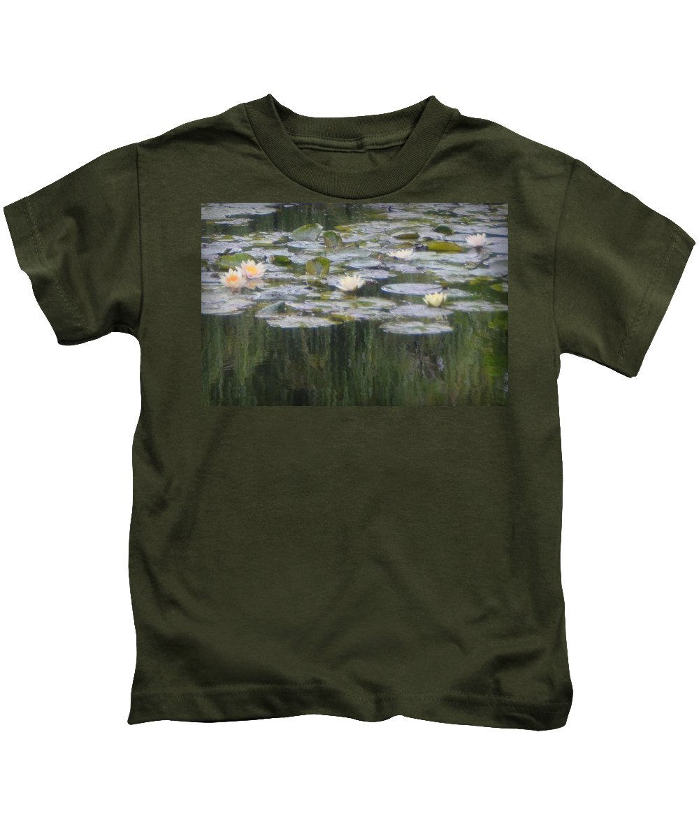 Monet Kids T-Shirt featuring the photograph Impressions Of Monet's Water Lilies by Carla Parris