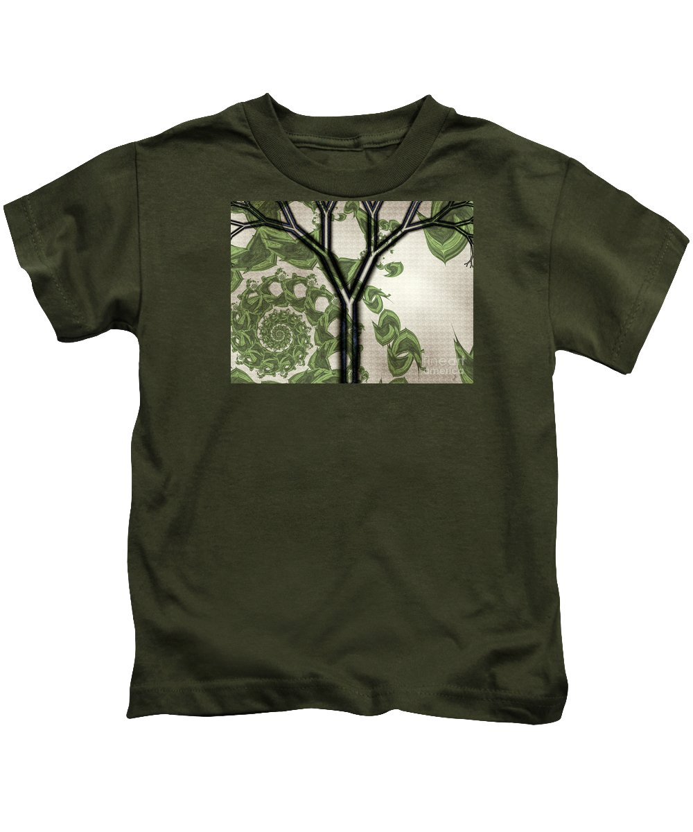In Like A Lion Kids T-Shirt featuring the digital art In Like A Lion by Kimberly Hansen