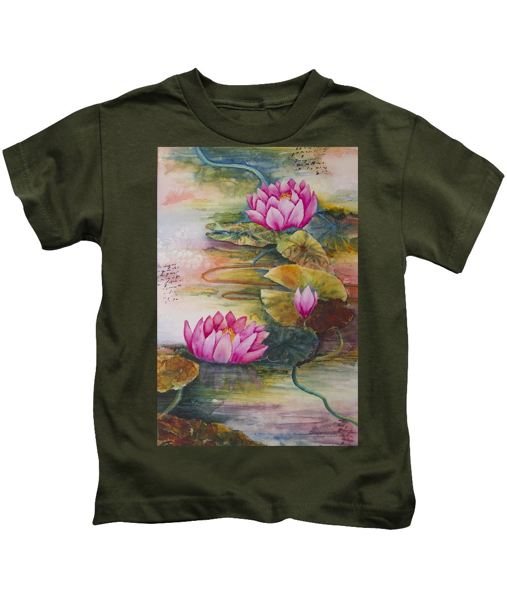 Water Kids T-Shirt featuring the painting In Living Color by Dee Carpenter