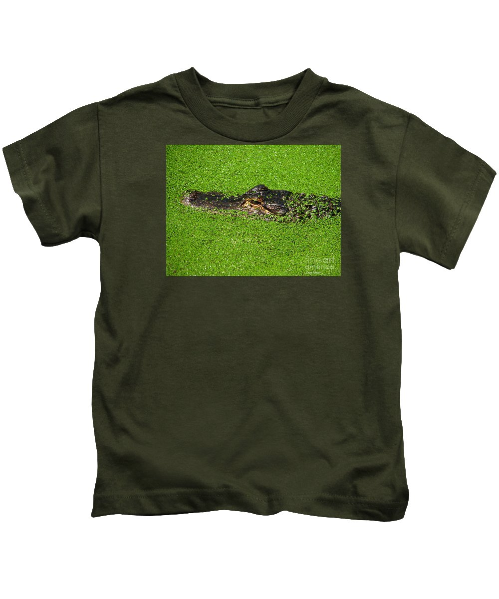 Art For The Wall...patzer Photography Kids T-Shirt featuring the photograph Incognito by Greg Patzer