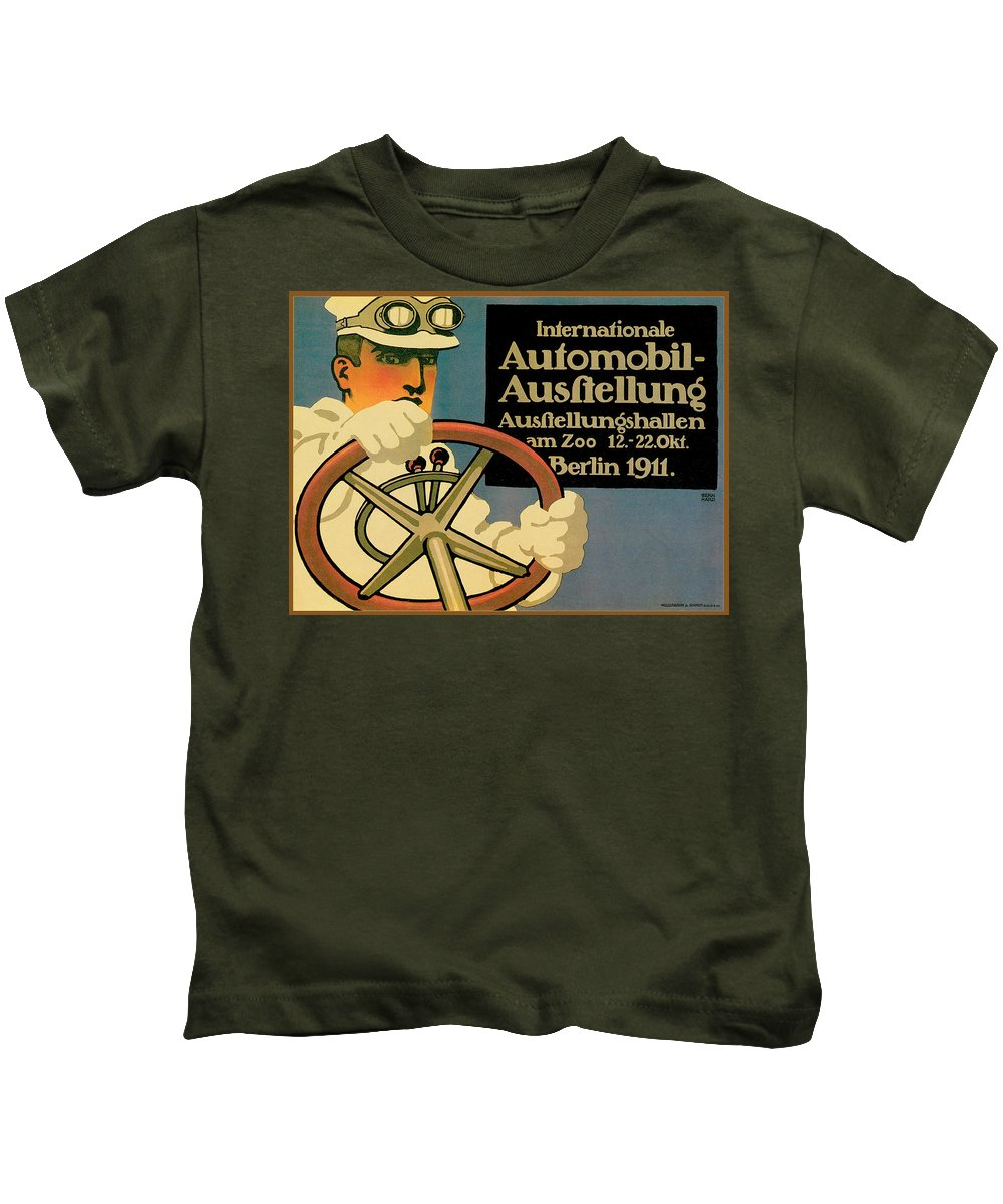 Vintage Automobile Ads And Posters Kids T-Shirt featuring the photograph Internationale Automobile Ausftellung by Vintage Automobile Ads and Posters