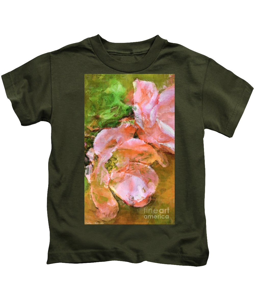 Iphone Case Kids T-Shirt featuring the photograph Iphone Pink Rose Digital Paint by Debbie Portwood