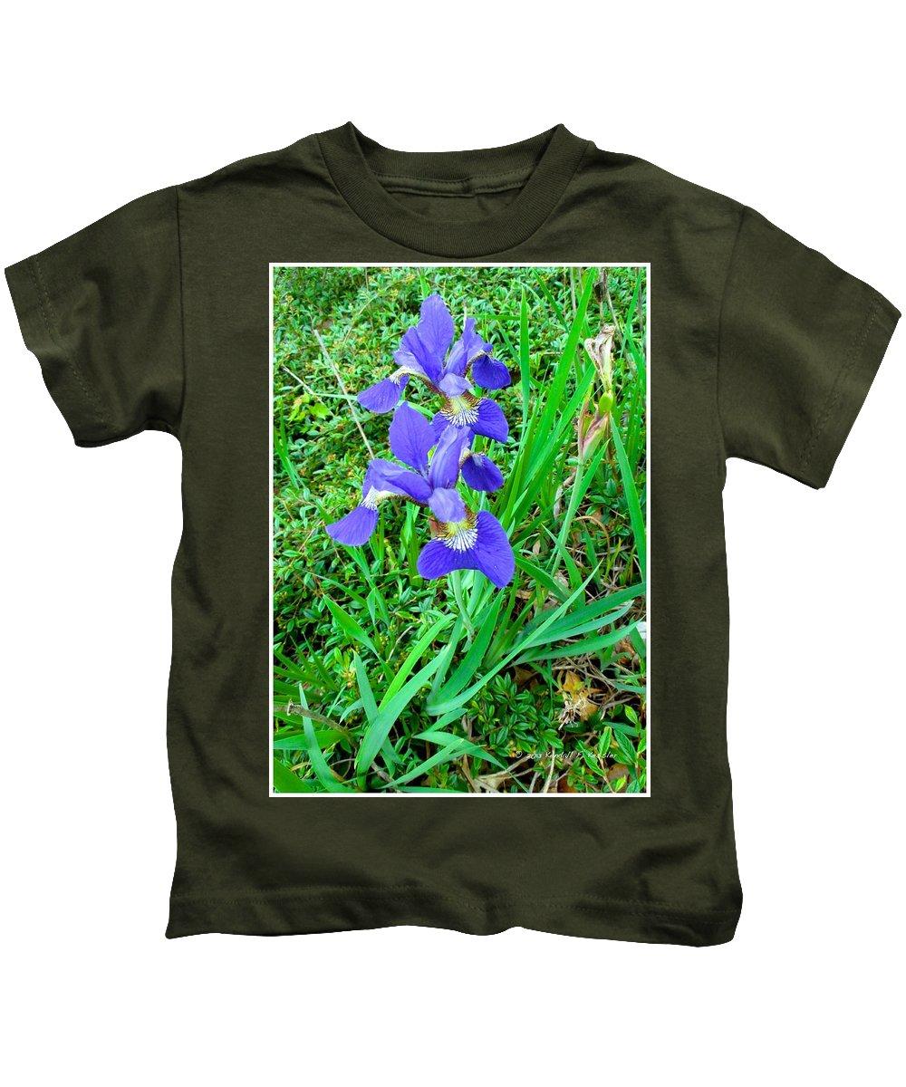 Iris Kids T-Shirt featuring the photograph Iris Swirl by Kendall Kessler