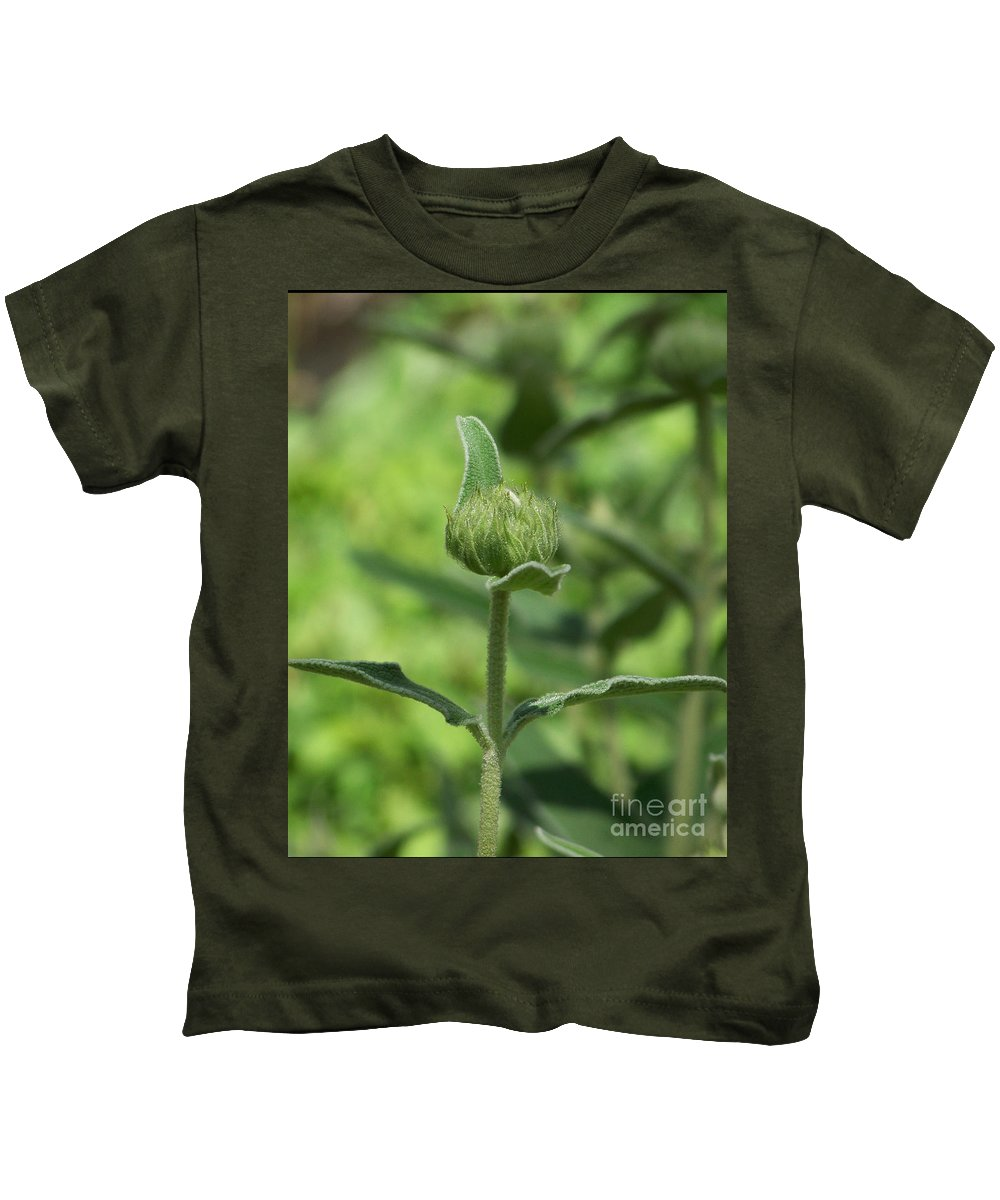 Plants Kids T-Shirt featuring the photograph Its A Green World by Kathy McClure