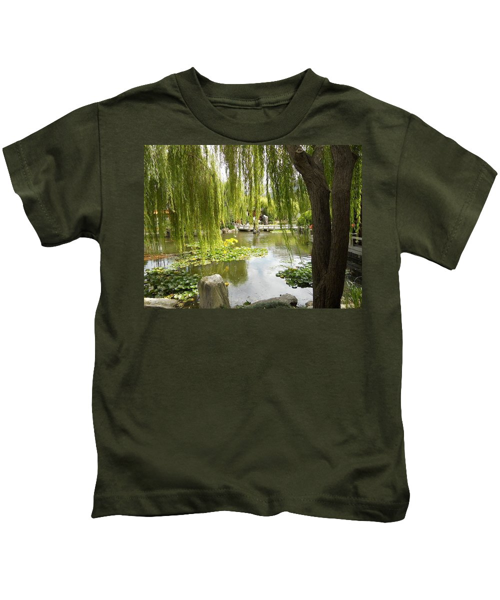 Japanese Garden Kids T-Shirt featuring the photograph Japanese Garden by Dotti Hannum