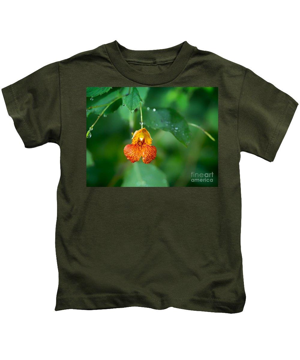 Jewelweed Kids T-Shirt featuring the photograph Jewel Like II by Mary Smyth