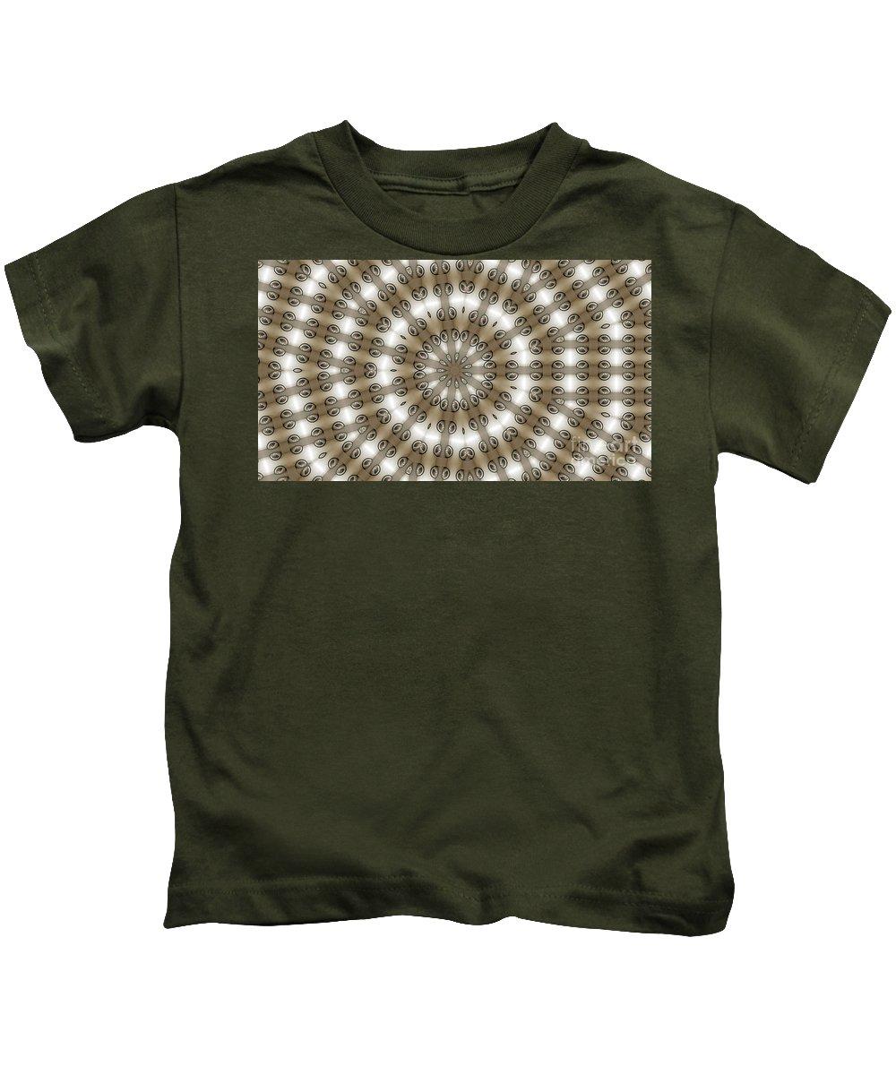 Kaleidoscope Kids T-Shirt featuring the digital art Kaleidoscope 54 by Ron Bissett
