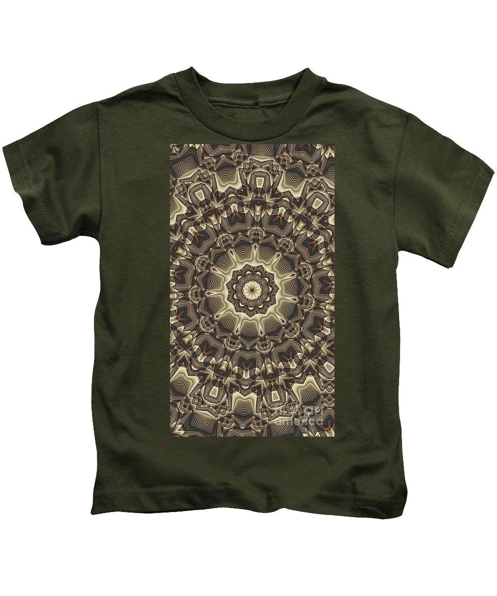 Kaleidoscope Kids T-Shirt featuring the digital art Kaleidoscope 66 by Ron Bissett