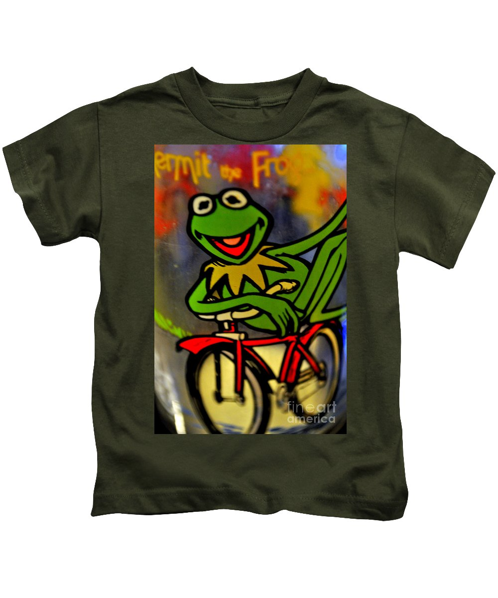 Kermit Kids T-Shirt featuring the photograph Kermit The Frog by Anjanette Douglas