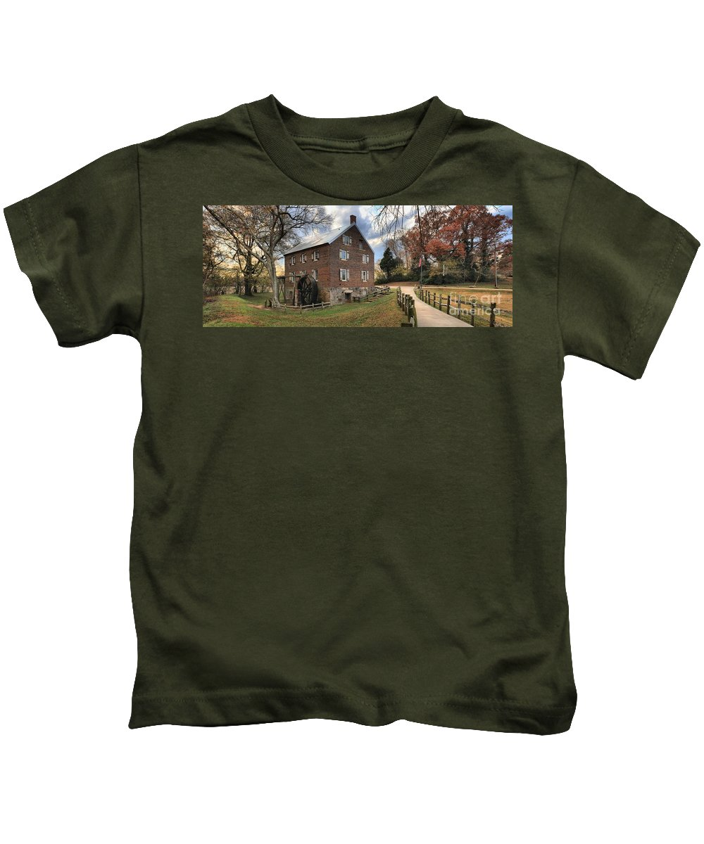 Kerr Mill Kids T-Shirt featuring the photograph Kerr Mill Panorama by Adam Jewell