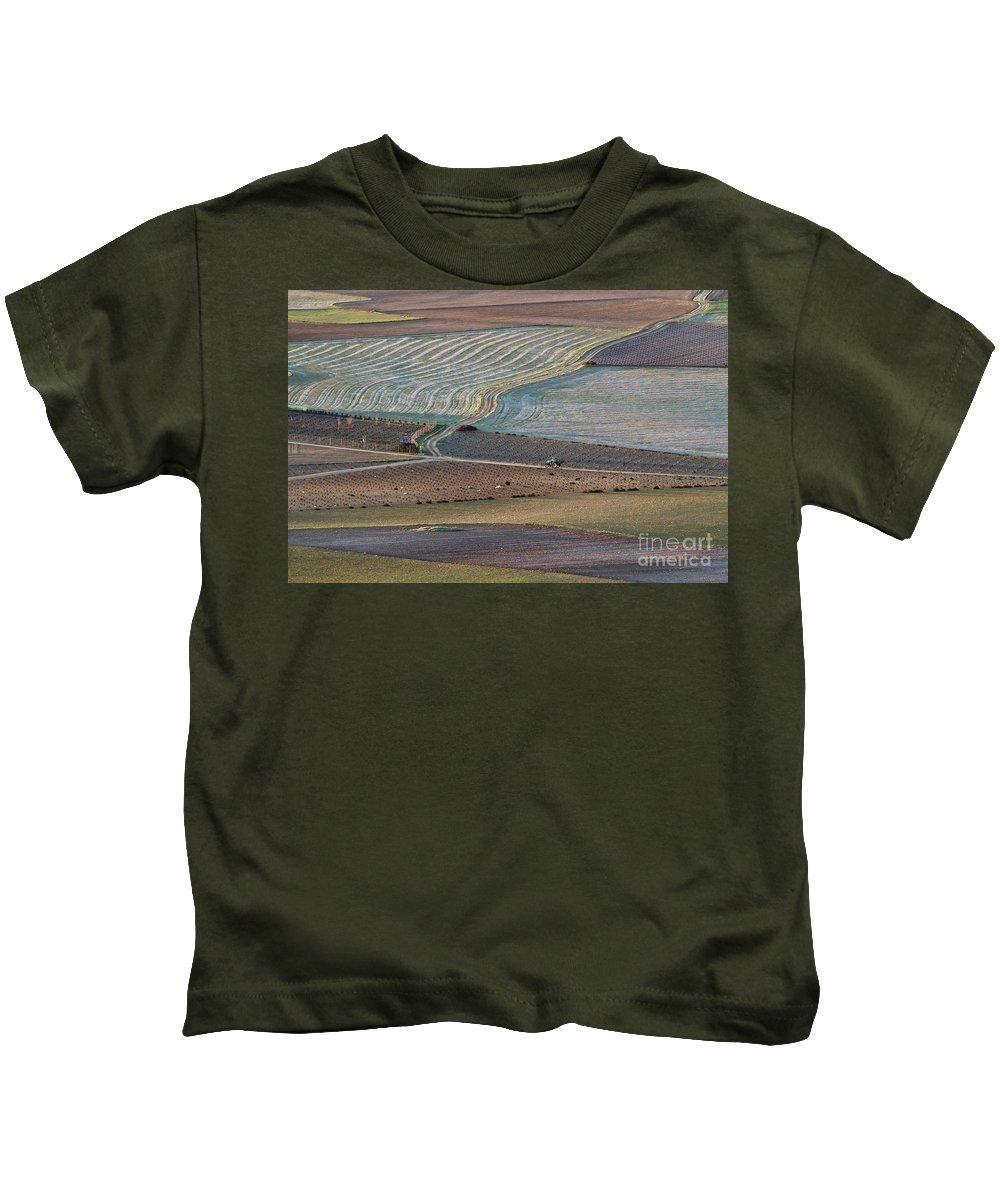 Landscape Kids T-Shirt featuring the photograph La Mancha Landscape - Spain Series-ocho by Heiko Koehrer-Wagner