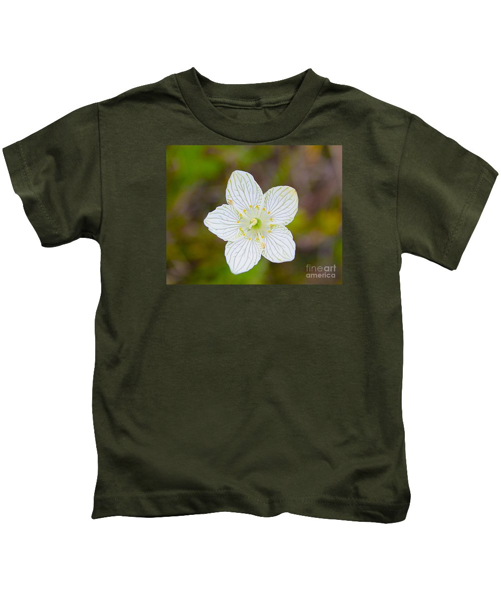 Nature Kids T-Shirt featuring the photograph Lake Huron Wildflower by Nina Silver