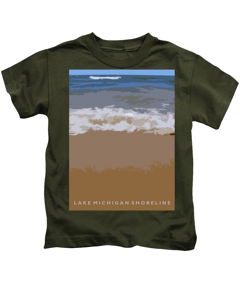 Beach Kids T-Shirt featuring the photograph Lake Michigan Shoreline by Michelle Calkins