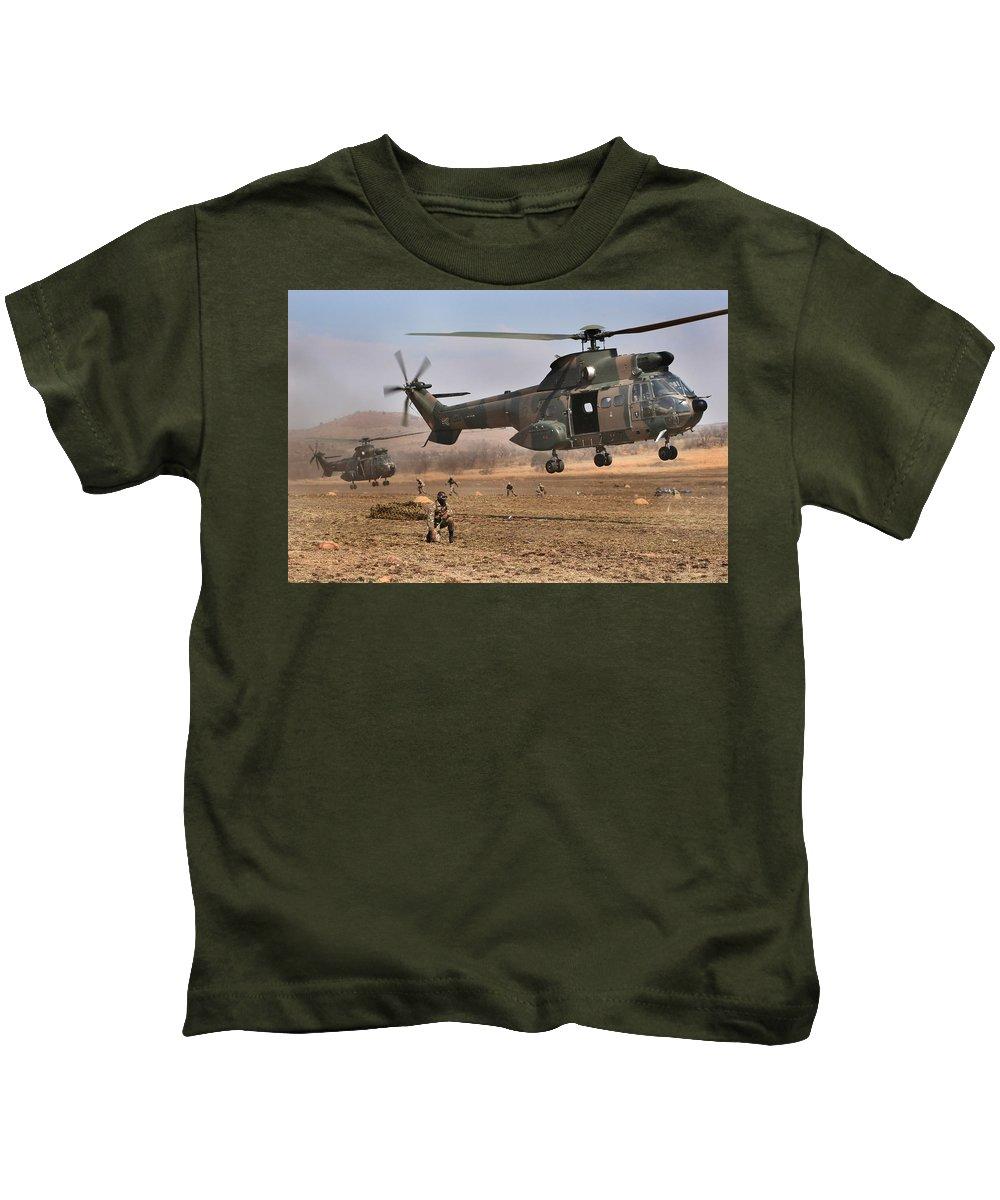 Atlas Oryx Kids T-Shirt featuring the photograph Landing Zone by Paul Job