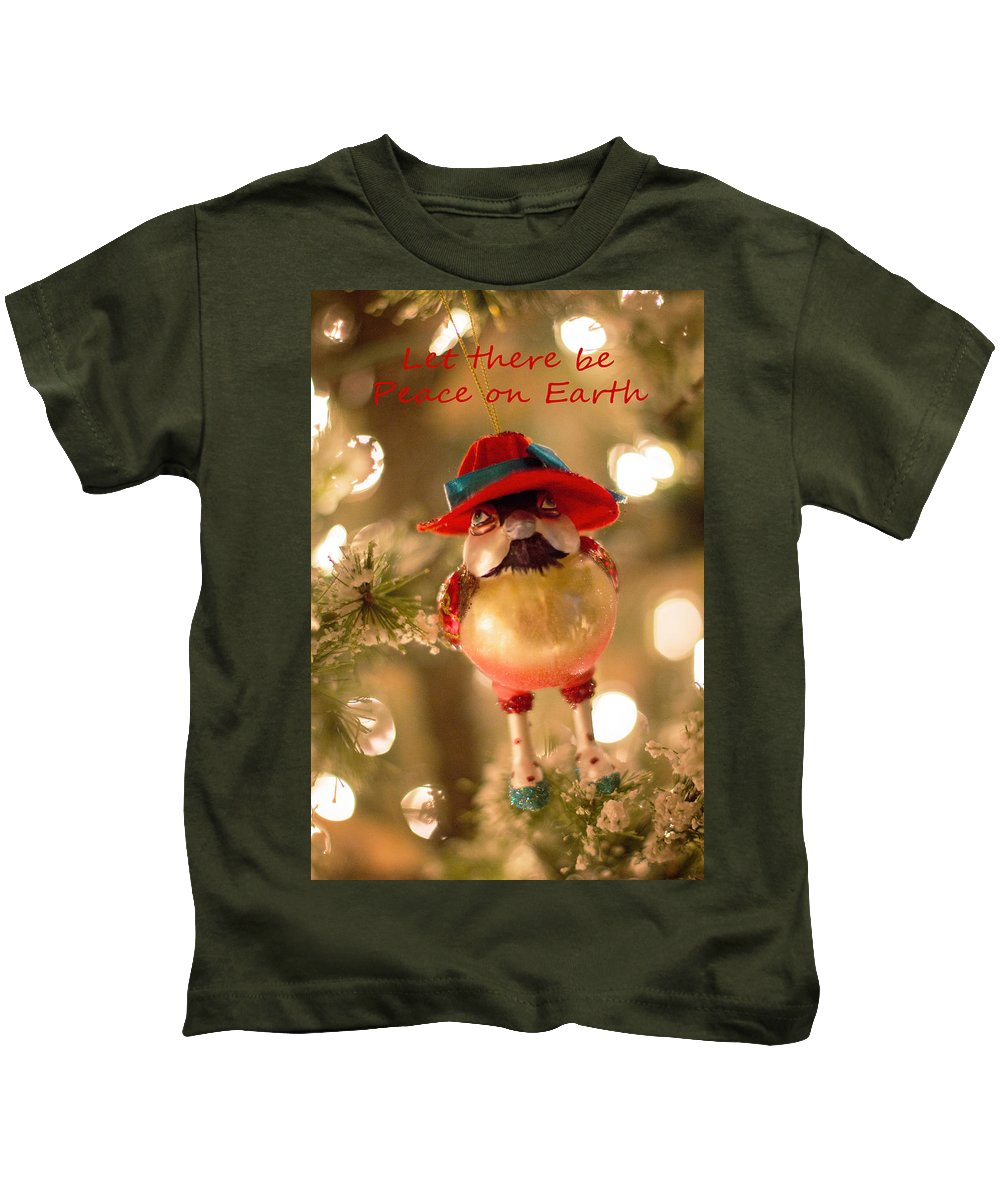 Christmas Kids T-Shirt featuring the photograph Let There Be Peace On Earth by Deb Buchanan