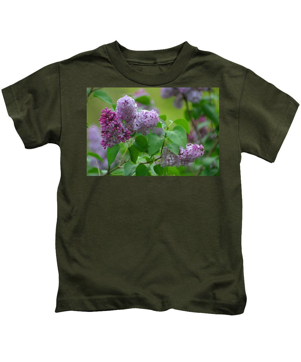 Floral Kids T-Shirt featuring the photograph Lilac Days by Living Color Photography Lorraine Lynch