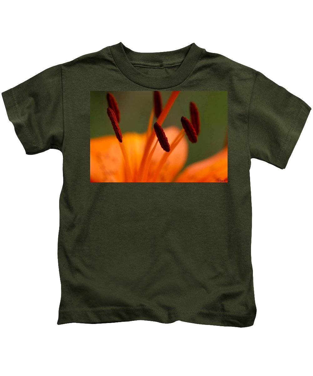 Flower Kids T-Shirt featuring the photograph Lily by Carol Lynch